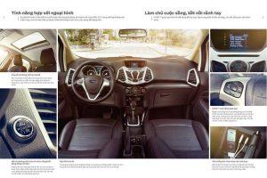 nội thất bên trong xe ford ecosport 2017
