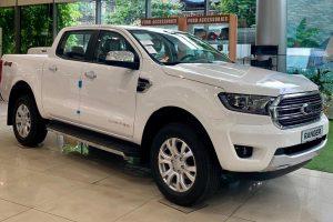 ford ranger limited 2021 màu trắng tại ford long biên