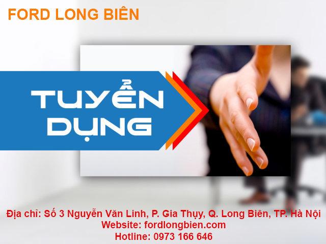 Ford Long Biên tuyển dụng nhân viên kinh doanh