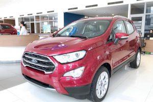 ford ecosport màu đỏ tại ford long biên